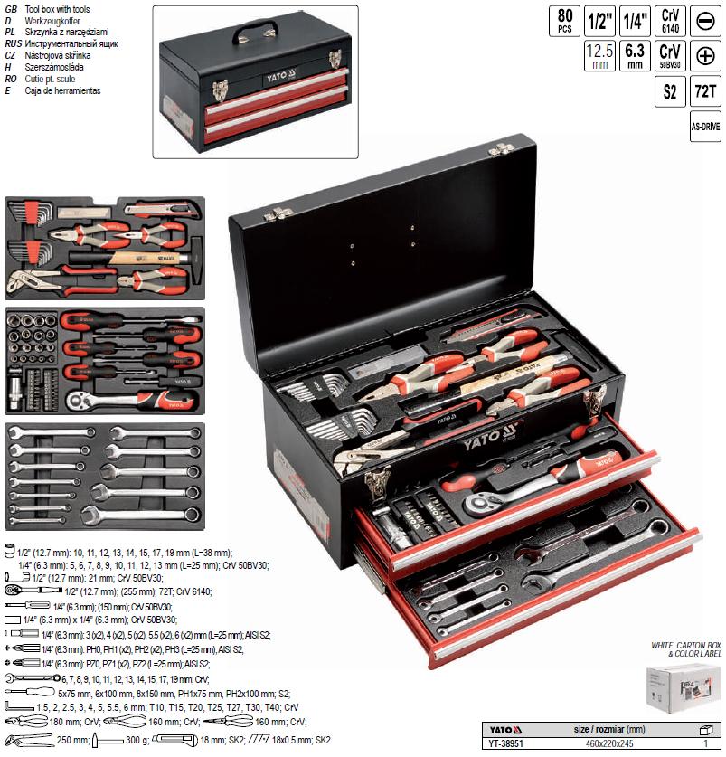 Ящик с набором инструмента 101 предмет 50235-101