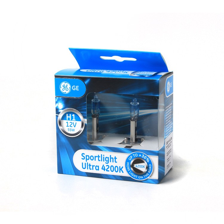 GE H1 55W 12V Sportlight Ultra 4200K +30% Box