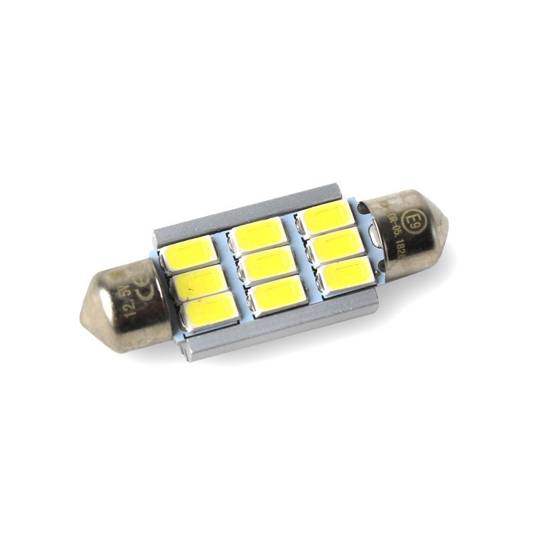 Led C10W 9SMD 42mm 6000K 12V canbus