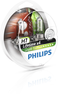 Philips LongLife EcoVision H7 55W 12V Box