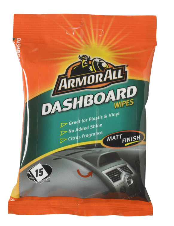 Utierky ARMOR ALL Dashboard Wipes - matný efekt 20 ks