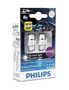 Philips X-tremeVision LED W5W T10 6000K