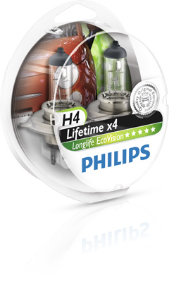 Philips Longlife EcoVision H4 12V 60/55W Box