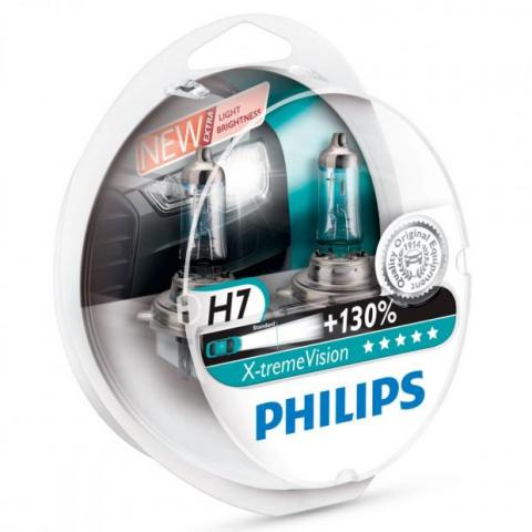 Philips X-treme Vision H7 12V 55W Box +130%