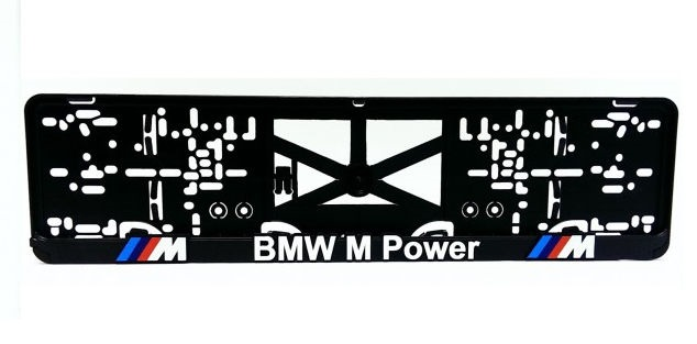 Podložka pod ŠPZ Bmw M Power 3D 2 ks