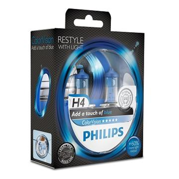 Philips H4 12V 60/55W ColorVision Blue Box