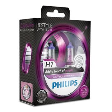 Philips H7 12V 55W ColorVision Purple Box