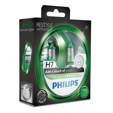 Philips H7 12V 55W ColorVision Green Box