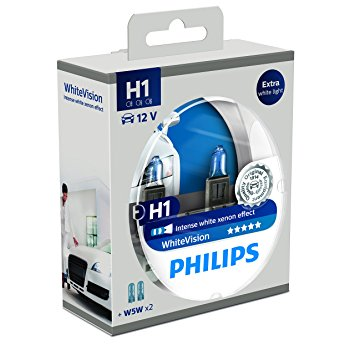 Philips 12V H1 55W White Vision ultra Box 2ks + W5W