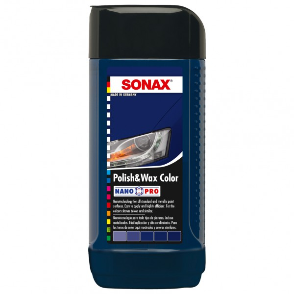 Sonax Polish & Wax Color modrý 250ml