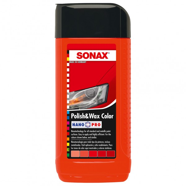 Sonax Polish & Wax Color červený 250ml