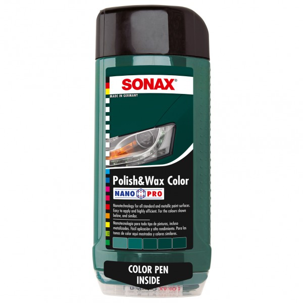 Sonax Polish & Wax Color zelený 500ml