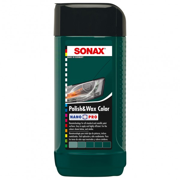 Sonax Polish & Wax Color zelený 250ml