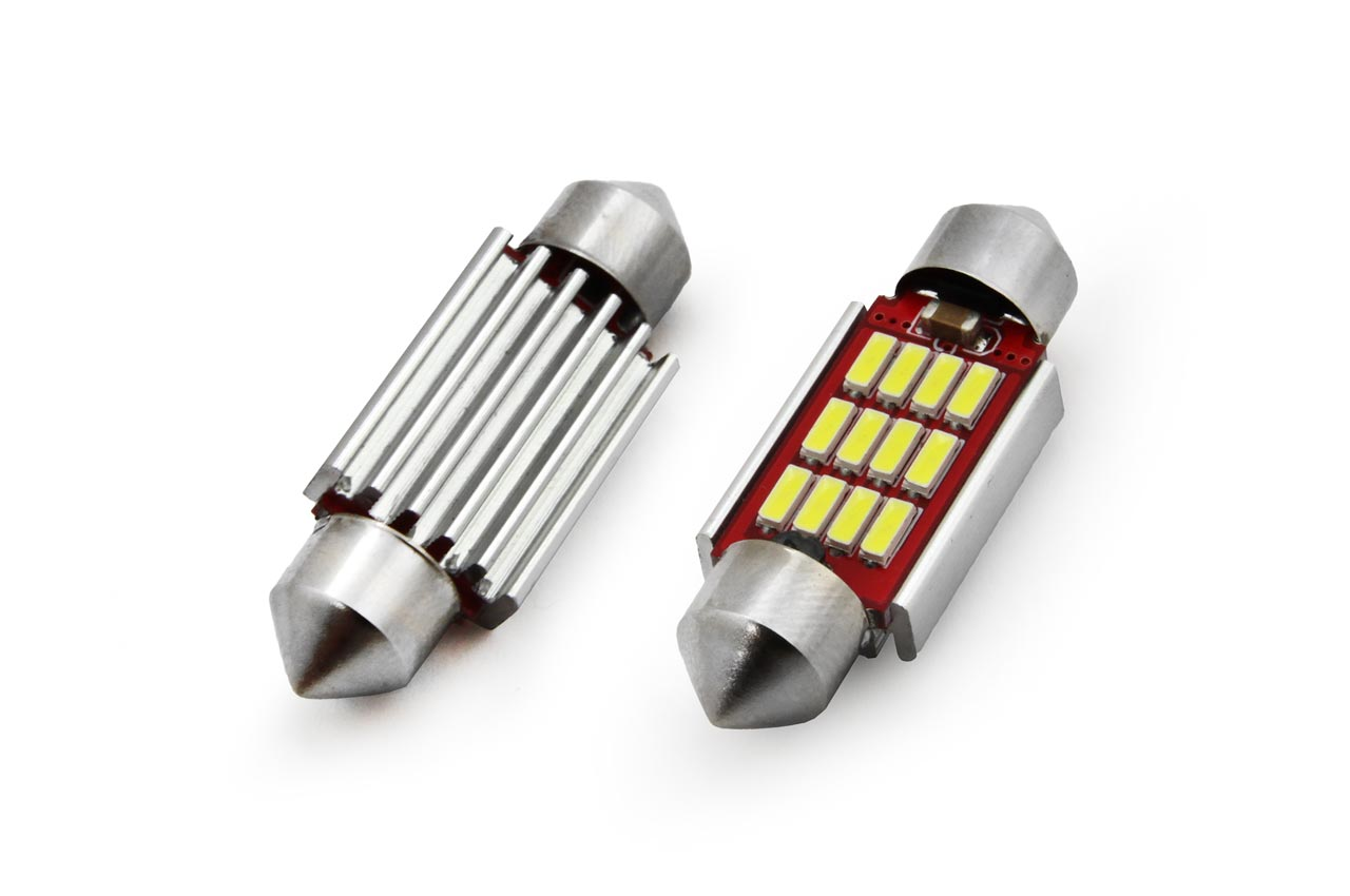 Led C5W 12SMD 36mm 6000K 12/24V canbus