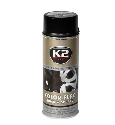 K2 Color flex čierny lesklý 400 ml