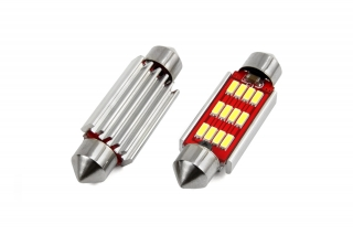 Led C10W 12SMD 41mm 6000K 12/24V canbus