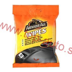 Utierky ARMOR ALL Dashboard Wipes - lesklý efekt 20 ks