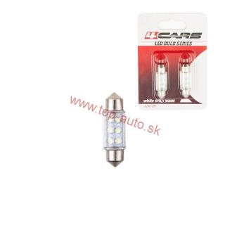 Led žiarovka 6LED 12V 36mm 6000K