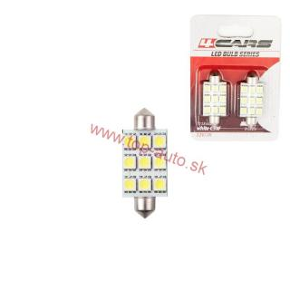 Led žiarovka 9LED 12V 5050SMD 44mm 6000K