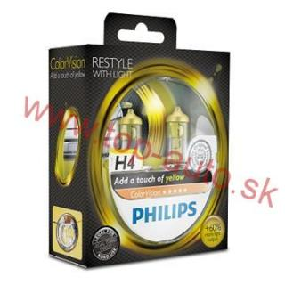 Philips H4 12V 60/55W ColorVision Yellow Box