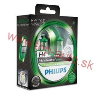 Philips H4 12V 60/55W ColorVision Green Box