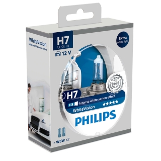Philips White Vision H7 PX26d 12V 55W Box
