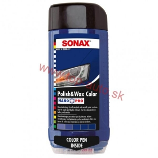 Sonax Polish & Wax Color modrý 500ml