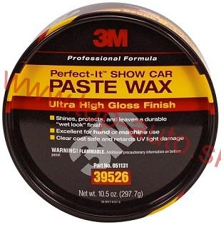 3M Perfect-It Car Paste Wax Tuhy ochranný vosk 298g + handrička