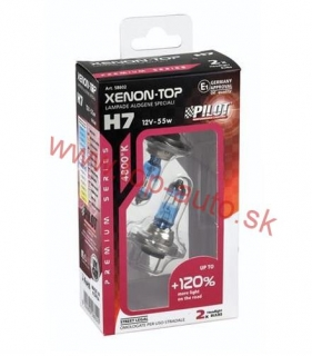 Pilot H7 12V 55W XENON-TOP +120% Box