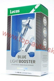 Lucas H1 12V 55W +50% Blue Light Booster Box