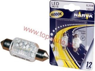 Narva C5W 3LED 12V 38mm 6000K